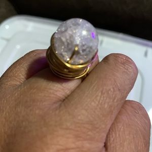 Beautiful handmade gold wire ring size 7
